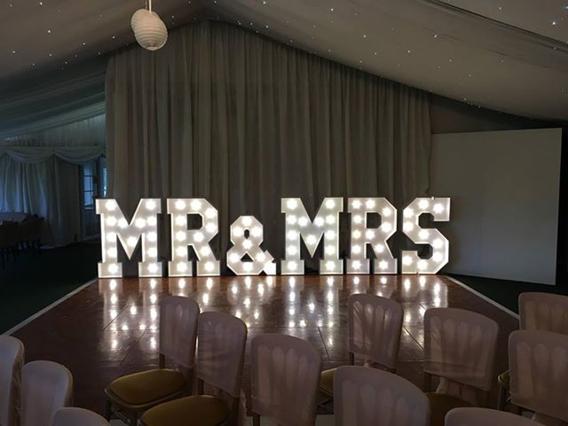 Mr and Mrs LED Letters