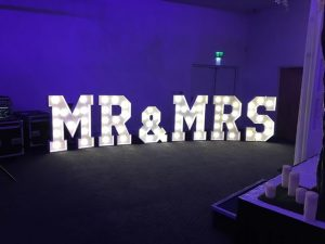 Mr and Mrs Light Up Letters