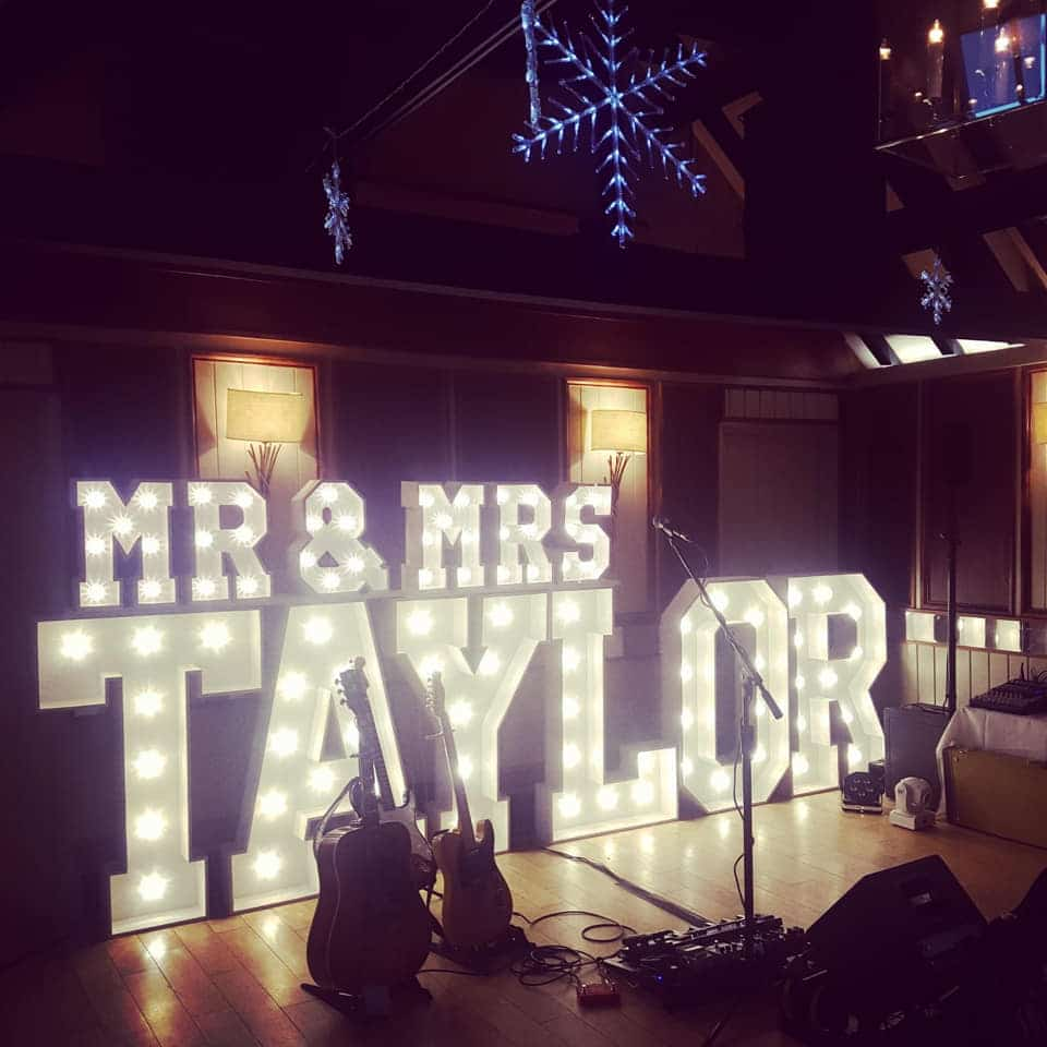 Mr and Mrs Taylor Light Up Letters