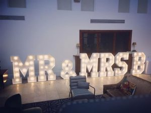 Mr and Mrs B Light Up Letters