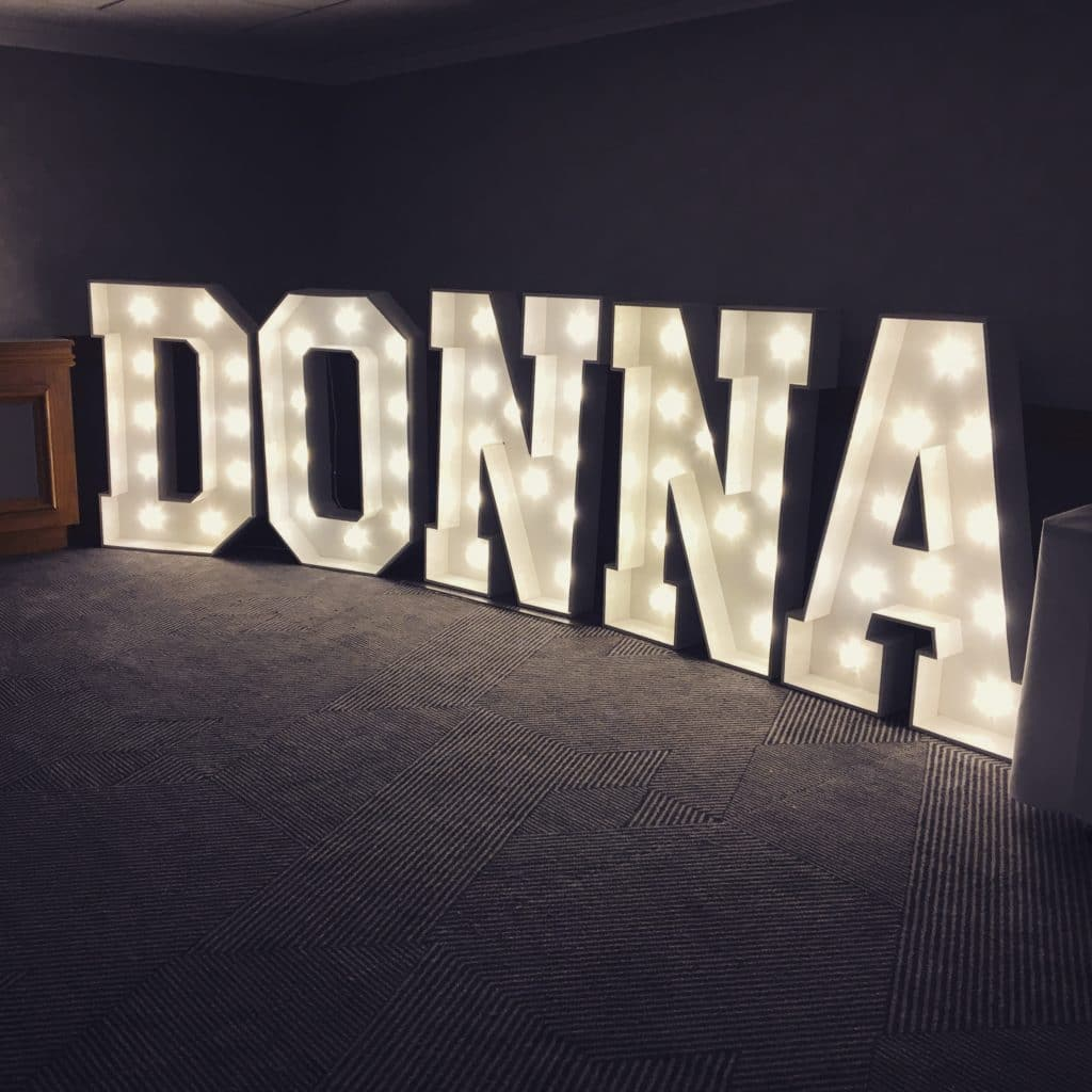 DONNA Light Up Letters