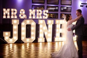 Mr and Mrs Jones Light Up Letters