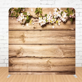 Wooden Flower Background for Photo Booth Prints