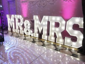 Mr and Mrs Letter Hire Dance Floor