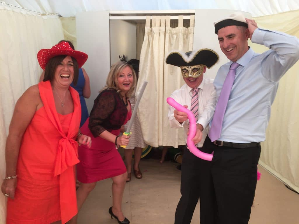 Guests with Photo Booth Props