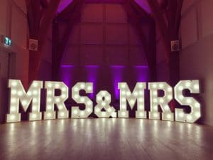Light Up Mr and Mrs