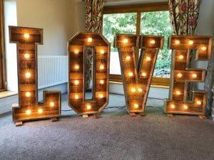 LOVE LED Light Up Letters