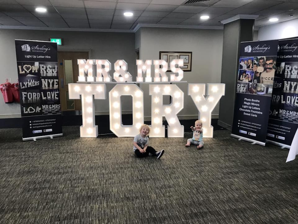 Mr and Mrs Tory Light Up Letters