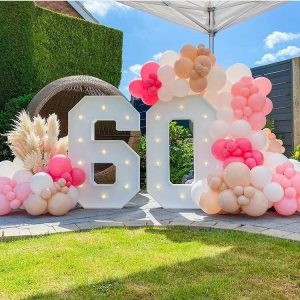 Light Up 60 with Pink Balloons